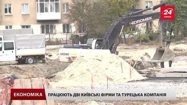 Новий колектор на вулиці Стуса у Львові запрацює до кінця грудня