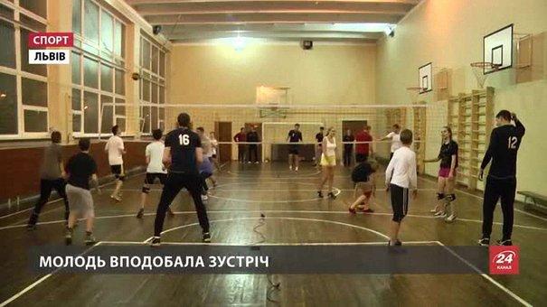 Львівські «Кажани» провели майстер-клас з волейболу для школярів