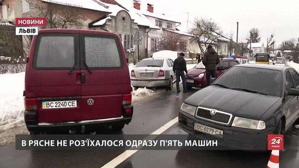 Ожеледиця спричинила у Львові рекордну кількість ДТП