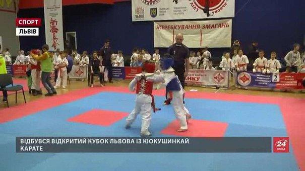 Малі каратисти проходили бойове хрещення на Відкритому кубку Львова