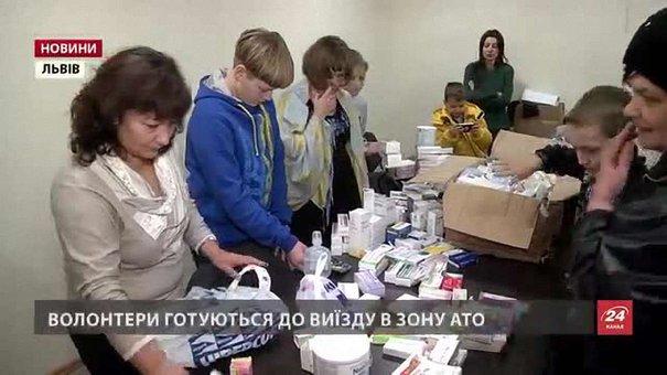 Українська діаспора з Іспанії повезла медикаменти і термоодяг у зону АТО