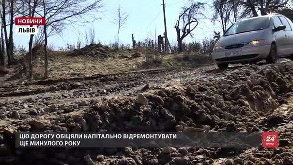 За 3 км до міжнародного пункту пропуску на Львівщині машини в'язнуть у болоті