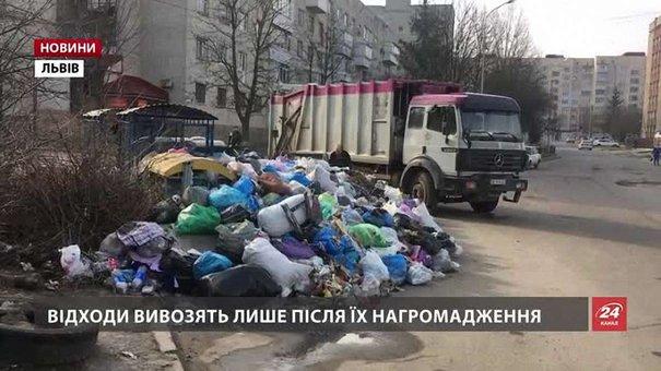 У Львівській міськраді назвали вражаючу кількість переповнених сміттєвих майданчиків