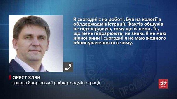 Голова Яворівської РДА заперечив інформацію про обшуки у нього