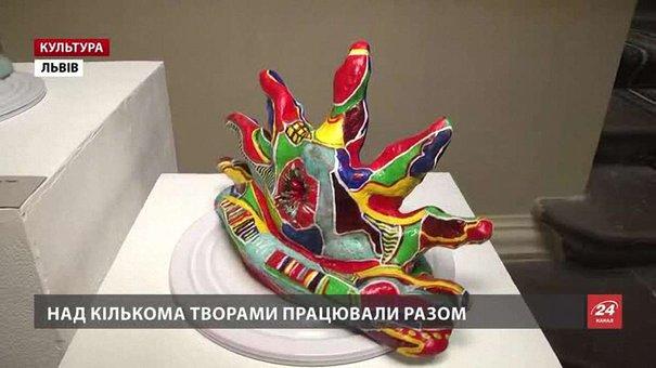 Паризький гуцул Тарас Григорук і львівський галичанин Віктор Проданчук відкрили виставку