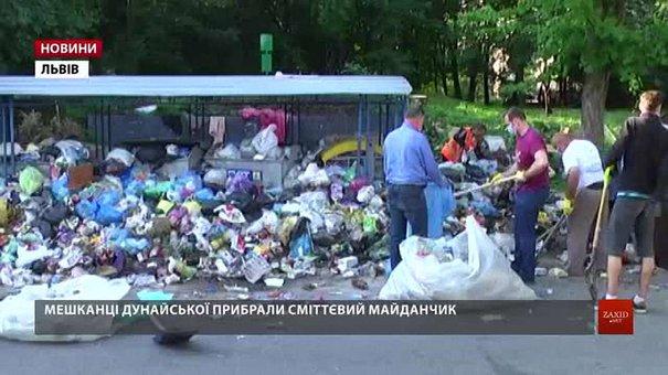 На вул. Дунайській мешканці самотужки прибрали сміття