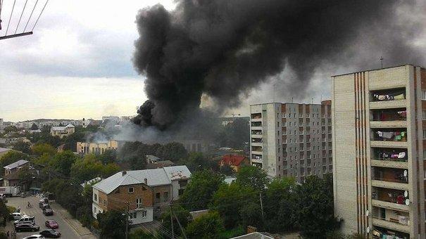 У Львові горів інструментальний завод