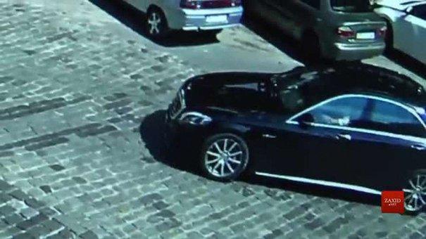 Камери спостереження зафіксували Димінського за кермом Mercedes перед ДТП