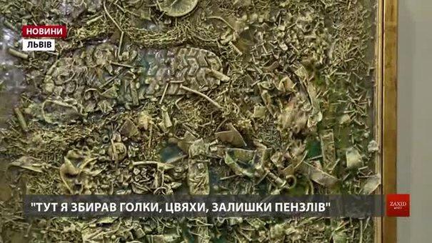 Мистецькі консерви із побутових речей створює художник Олег Давиденко