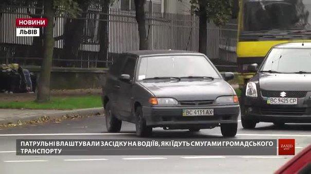 У Львові почали штрафувати водіїв за їзду смугами для громадського транспорту