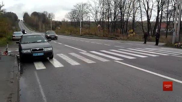 На місці ДТП за участі автомобіля Димінського експерти МВС працювали зі свідком