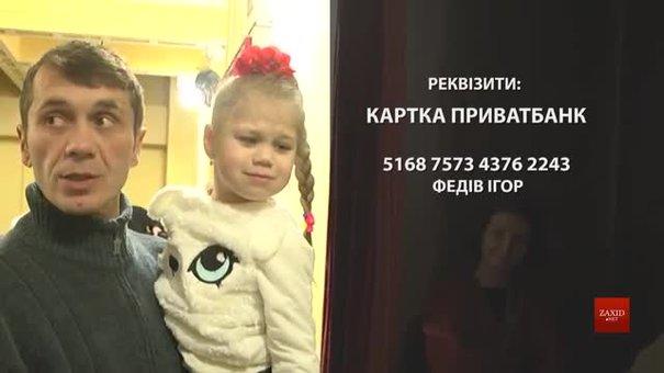 У Львівському театрі ляльок стартує благодійна акція для порятунку хворої 4-річної дівчинки