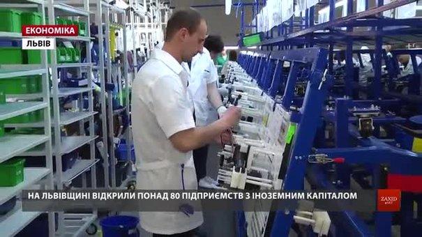 На Львівщині за рік відкрили понад 80 підприємств з іноземним капіталом