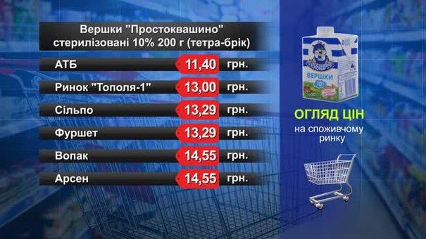 Вершки. Огляд цін у львівських супермаркетах за12 січня