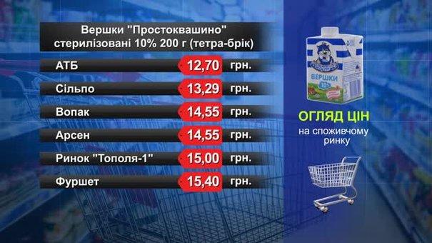 Вершки. Огляд цін у львівських супермаркетах за 30 січня