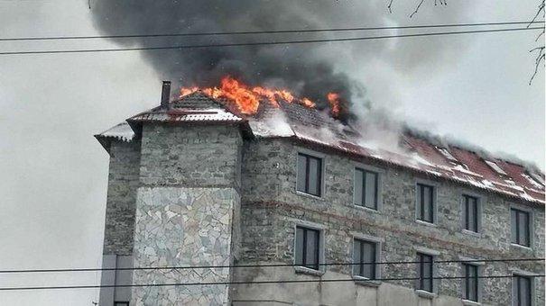 У Львові горів  багатоповерховий офісний центр