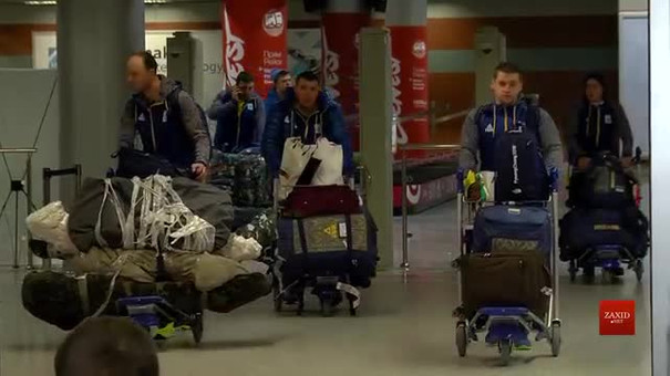 Українські санкарі-олімпійці прилетіли із Південної Кореї до Львова