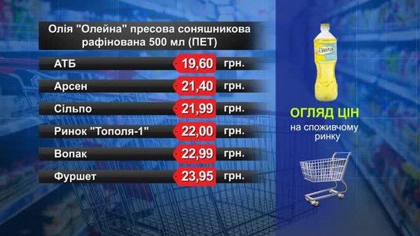 Олія «Олейна». Огляд цін у львівських супермаркетах за 2 березня