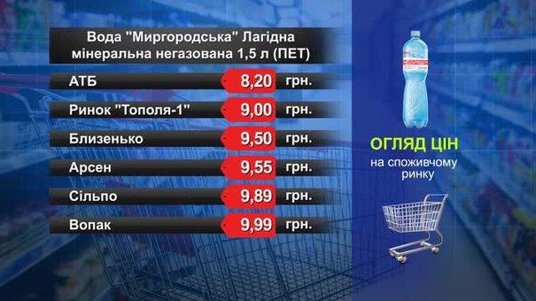 Вода «Миргородська». Огляд цін у львівських супермаркетах за 26 березня