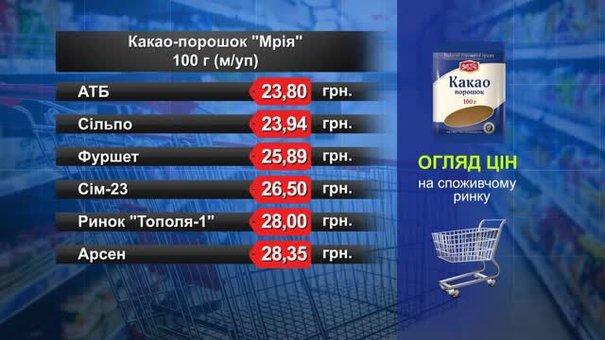 Какао-порошок «Мрія». Огляд цін у львівських супермаркетах за 3 квітня