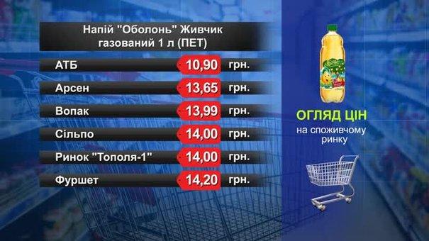 Напій «Оболонь» Живчик. Огляд цін у львівських супермаркетах за 13 квітня