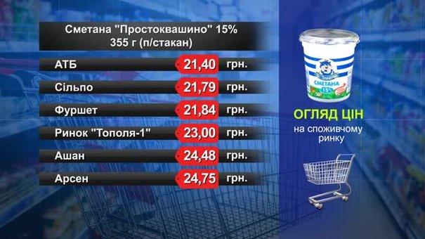 Сметана «Простоквашино». Огляд цін у львівських супермаркетах за 20 квітня