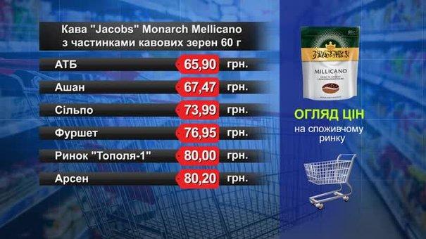 Кава розчинна Jacobs Monarch. Огляд цін у львівських супермаркетах за 10 травня