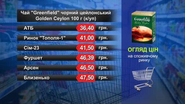 Чорний чай Greenfield. Огляд цін у львівських супермаркетах за 14 травня