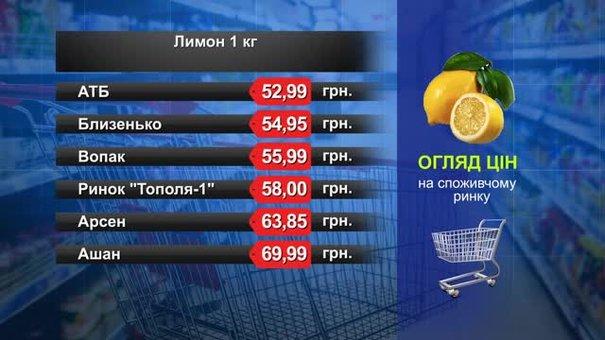 Лимони. Огляд цін у львівських супермаркетах за 22 травня