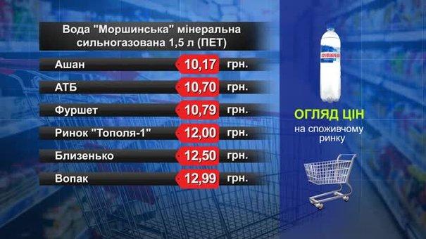 Вода «Моршинська». Огляд цін у львівських супермаркетах за 10 липня