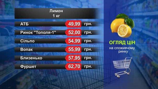 Лимони. Огляд цін у львівських супермаркетах за 31 липня