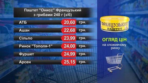 Паштет «Онисс» Французький. Огляд цін у львівських супермаркетах за 2 серпня