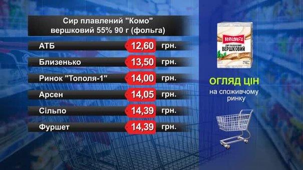 Сир плавлений «Комо». Огляд цін у львівських супермаркетах за 7 серпня