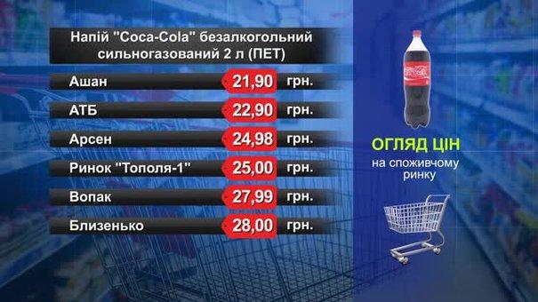 Coca-Cola (2 л). Огляд цін у львівських супермаркетах за 14 серпня
