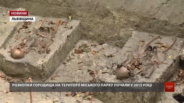 На території Буського парку археологи відшукали останки 15-ти давніх християн