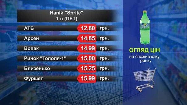 Sprite. Огляд цін у львівських супермаркетах за 3 вересня