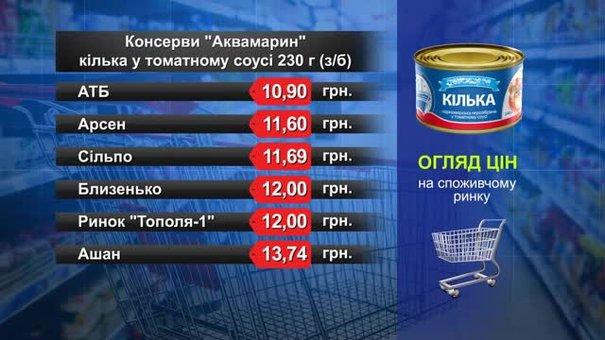 Кілька в томатному соусі «Аквамарин». Огляд цін у львівських супермаркетах за 12 вересня