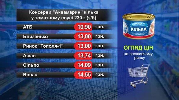 Консерви «Аквамарин» кілька. Огляд цін у львівських супермаркетах за 24 вересня