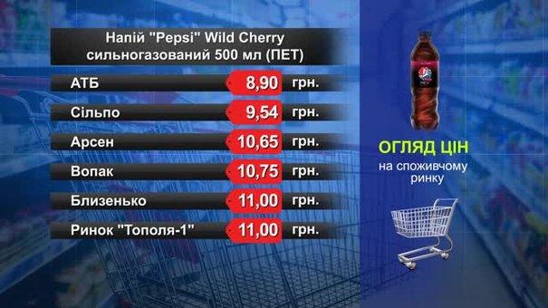 Pepsi. Огляд цін у львівських супермаркетах за 1 жовтня