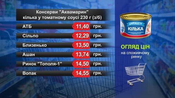Консерви «Аквамарин» кілька. Огляд цін у львівських супермаркетах за 17 жовтня