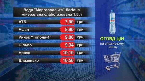 Вода «Миргородська». Огляд цін у львівських супермаркетах за 4 грудня