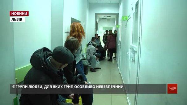 На Львівщині збільшилася кількість хворих на грип