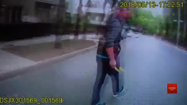 Галицький райсуд оприлюднив відео ножового нападу на львівську патрульну