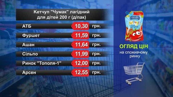 Кетчуп «Чумак»лагідний для дітей. Огляд цін у львівських супермаркетах за 21 грудня