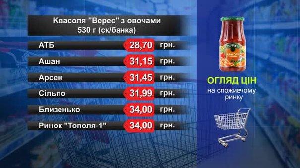 Квасоля «Верес» з овочами. Огляд цін у львівських супермаркетах за 10 січня