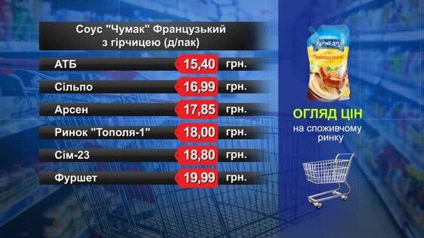 Соус «Чумак» Французький з гірчицею. Огляд цін у львівських супермаркетах за 15 січня