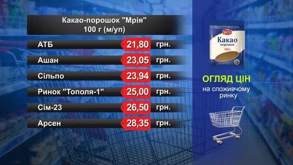 Какао-порошок «Мрія». Огляд цін у львівських супермаркетах за 30 січня