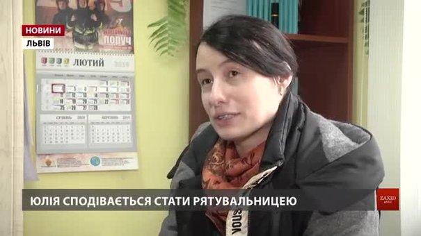 33-річна львів'янка, яка хоче стати пожежницею, склала перші тести