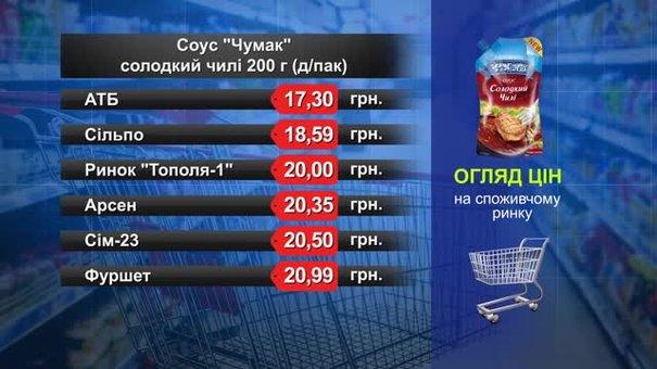 Соус «Чумак» солодкий чилі. Огляд цін у львівських супермаркетах за 6 лютого