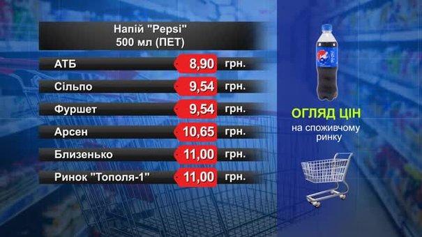 Pepsi. Огляд цін у львівських супермаркетах за 8 лютого